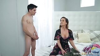 Teen pervert Jordi shakes his long dick for stepmom Cherie Deville
