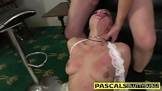Tied Up Whore Throating Penis - BDSM porn