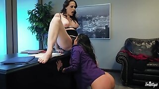 Karlee & Chanel make love in the office