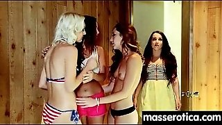 Sexy girl gives big tits lesbian an orgasm 4