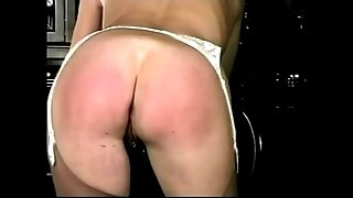 Retro MILF spanking fetish porn video