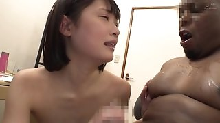 Petite asian vixen - Big Black Penis Cuffed