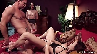 Head slave butt fuck have sex in threesome orgy