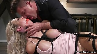 Buxom submissive shemale anal sex had sex