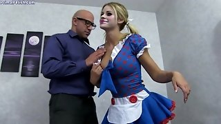 Arousing Blondie Maid Jessa Rhodes Had Intercourse Hard