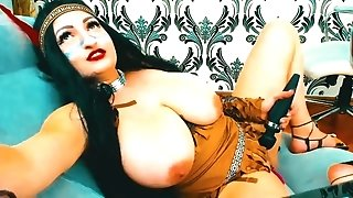Huge Knockers In Her Pocahontas Halloween Costume...