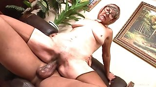 Granny Is Loving A Huge Phat Black Male Pole - interracial