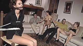 Hot big boobed retro blonde sucks big cock before being fucked