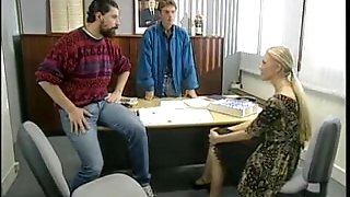 French Office double fuck - Threesome