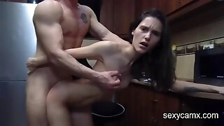 Hard Ass Fuck Nailing And Anal Hardcore Creampie With Skinny Darkhaired Babe Live At - Oral