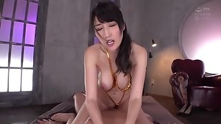 Oiled Handjob big tits asian MILF