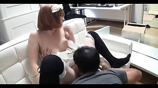 Japanese House Maid Nailed By Boss In Desirable Uniform