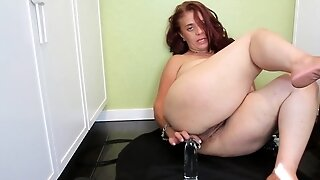 In the kitchen with my toys - GILF solo video